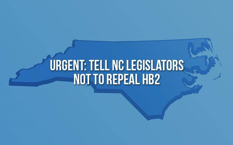Urgent:  Tell NC Legislators Not to Repeal HB2