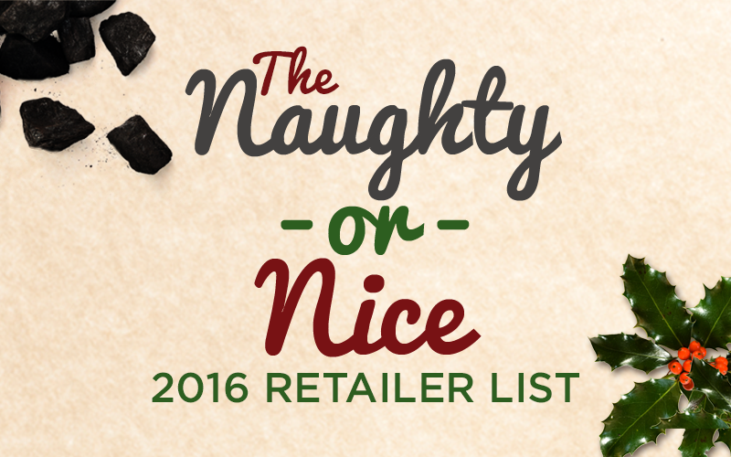 AFA's 2016 'Naughty-or-Nice' Christmas Store Listing