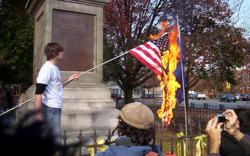 No, Flag-burning Is Not Protected by the Founders' Constitution