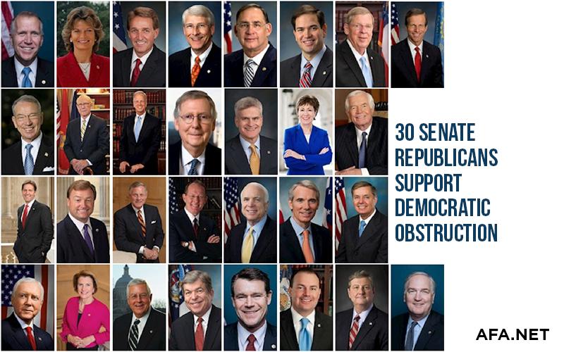 30 Senate Republicans defending Democratic Obstruction