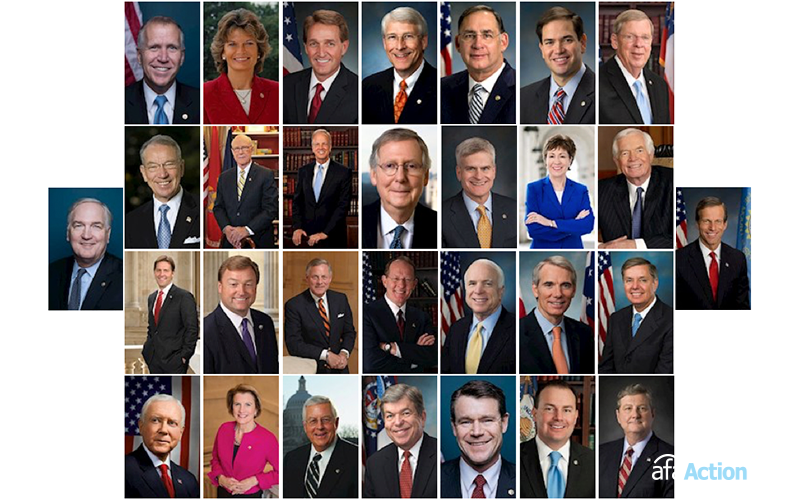 Thirty Senate Republicans Defending Democratic Obstruction