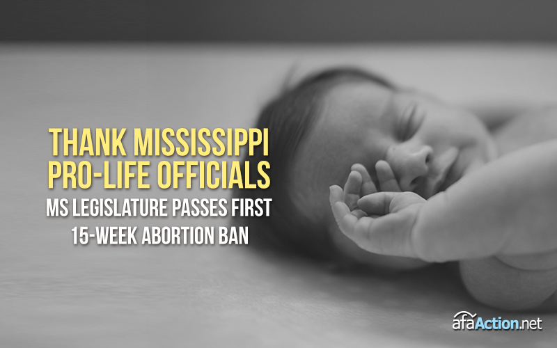 Mississippi makes history passing 15-week abortion ban