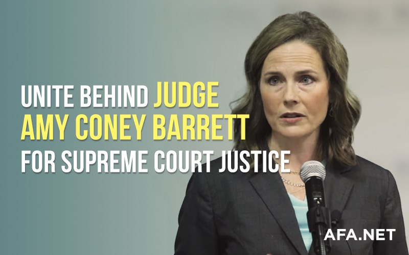 Urge Pres. Trump to nominate Judge Amy C. Barrett for Supreme Court