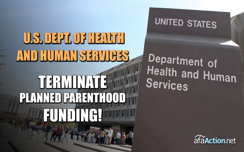 U.S. Dept. of Health close to ending Planned Parenthood funding