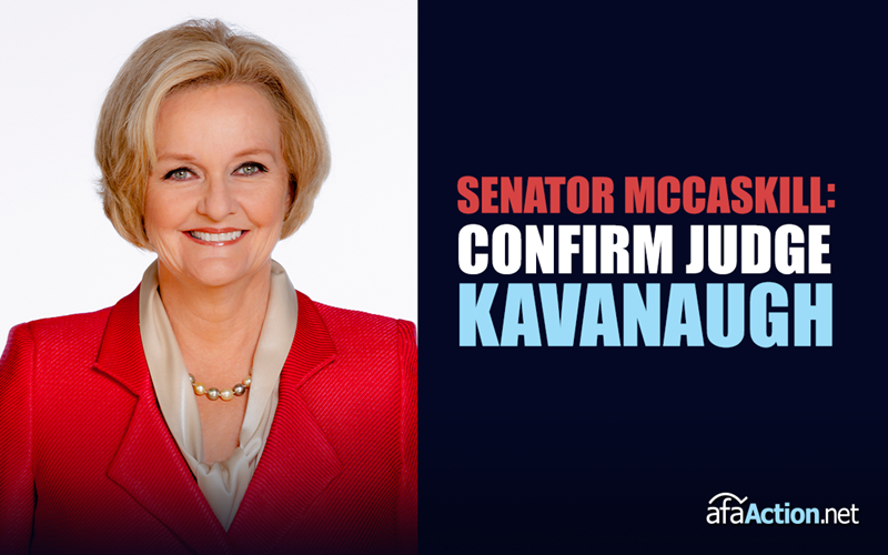 Tell Senator McCaskill to Confirm Kavanaugh