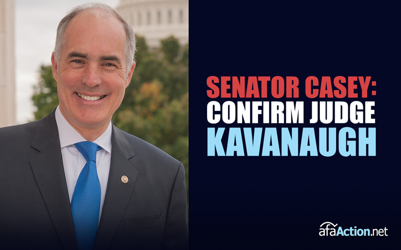 Tell Senator Casey to Confirm Kavanaugh