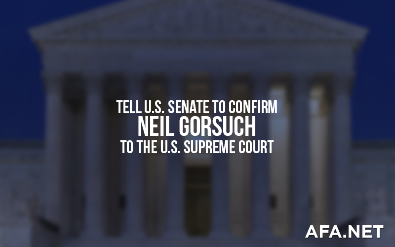 Tell Senate to Confirm Neil Gorsuch