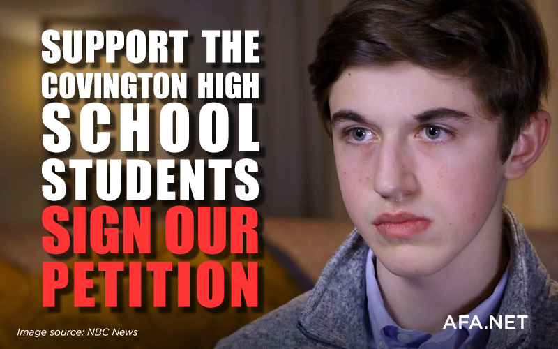 Stand with the Covington High School students