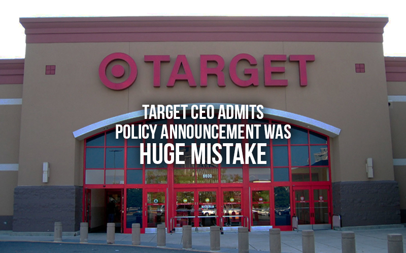 Target CEO admits policy announcement was huge mistake