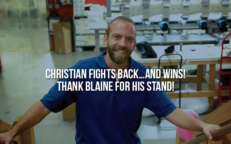 Christian business owner fights back…and wins! Thank him for his stand!
