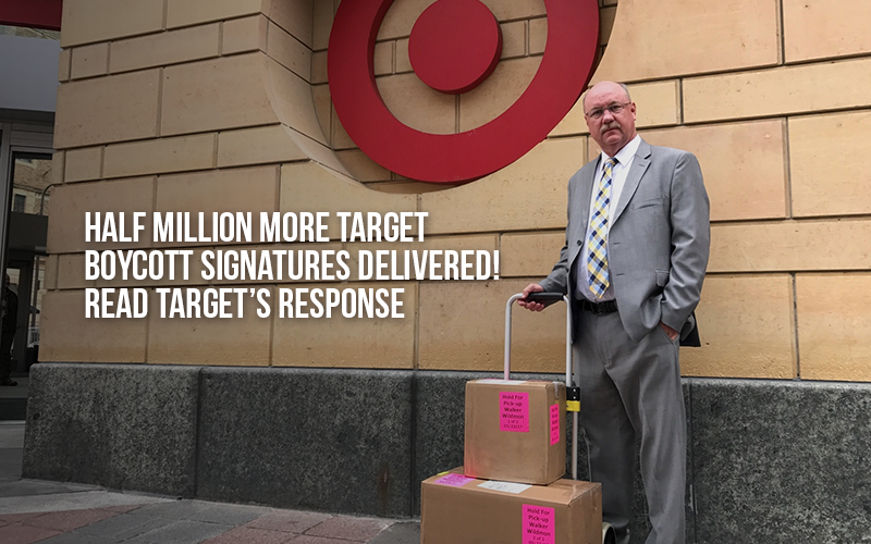 Half Million More Target Boycott Signatures Delivered! Read Target's response