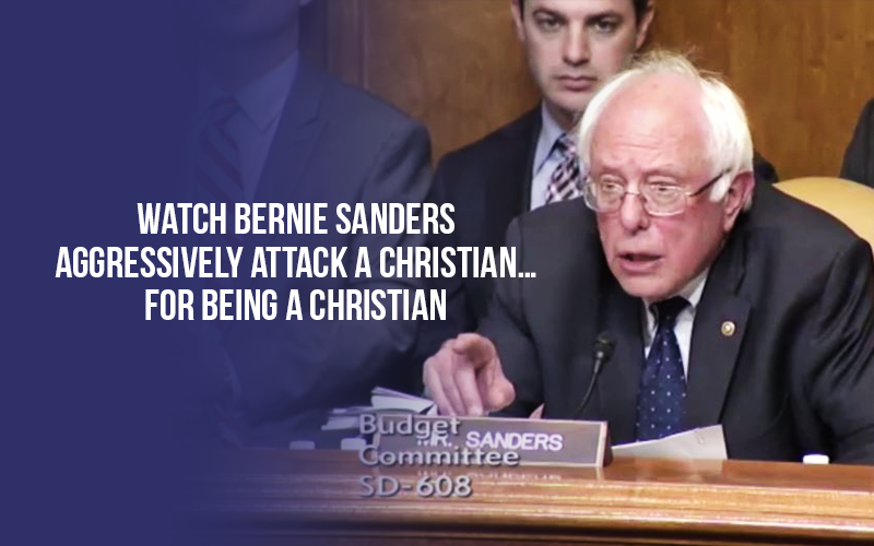 Watch Bernie Sanders Aggressively Attack a Christian...for being a Christian