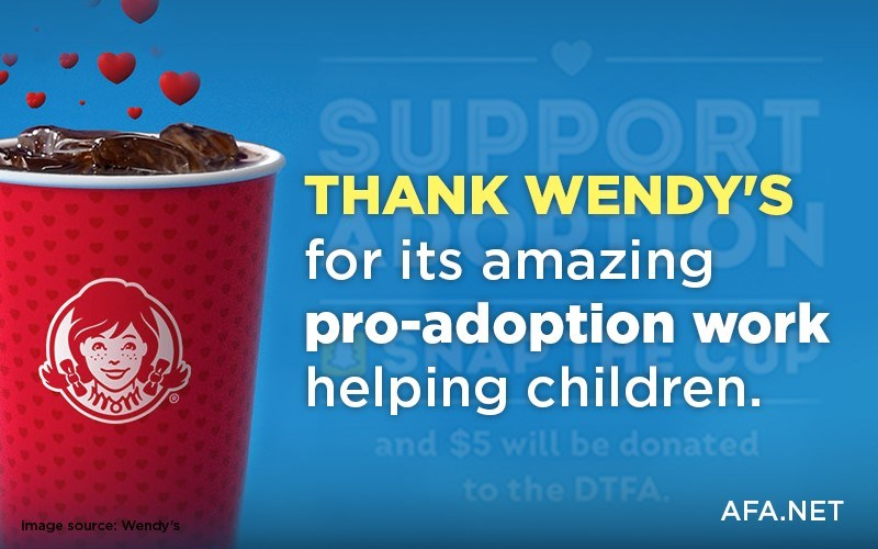 Thank Wendy's for its amazing pro-adoption work helping children