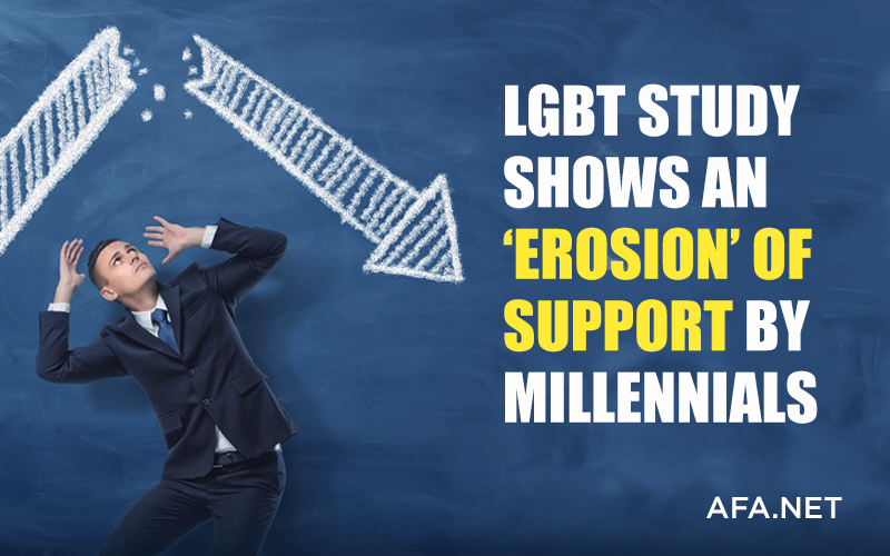 LGBT study shows an 'erosion' of support by millennials