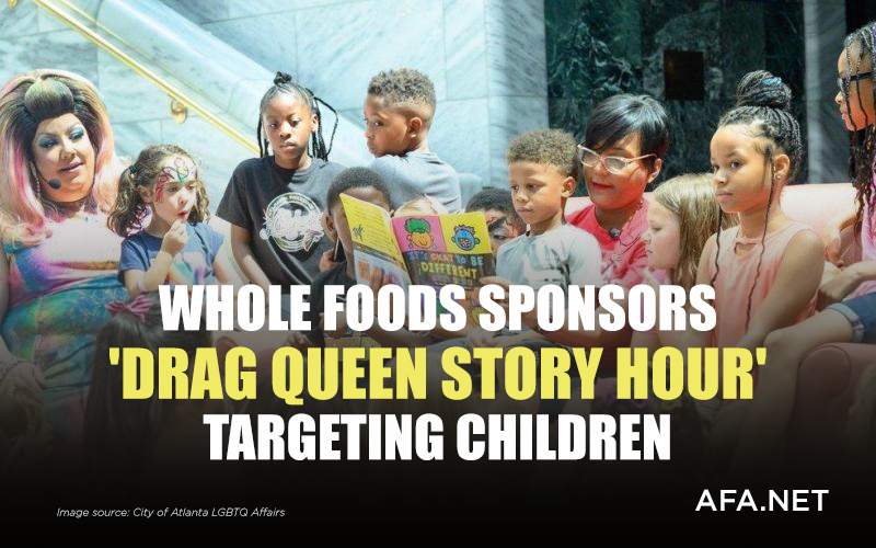 Whole Foods sponsors 'Drag Queen Story Hour' targeting children