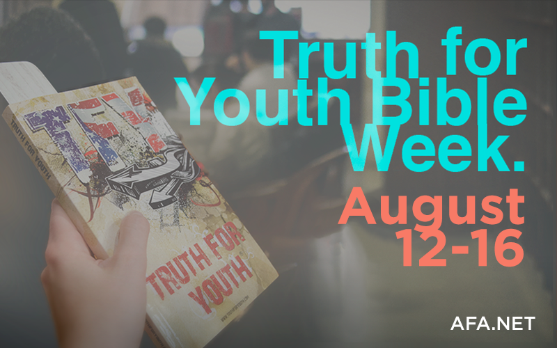 Get a free Bible now during National 'Truth for Youth' Week