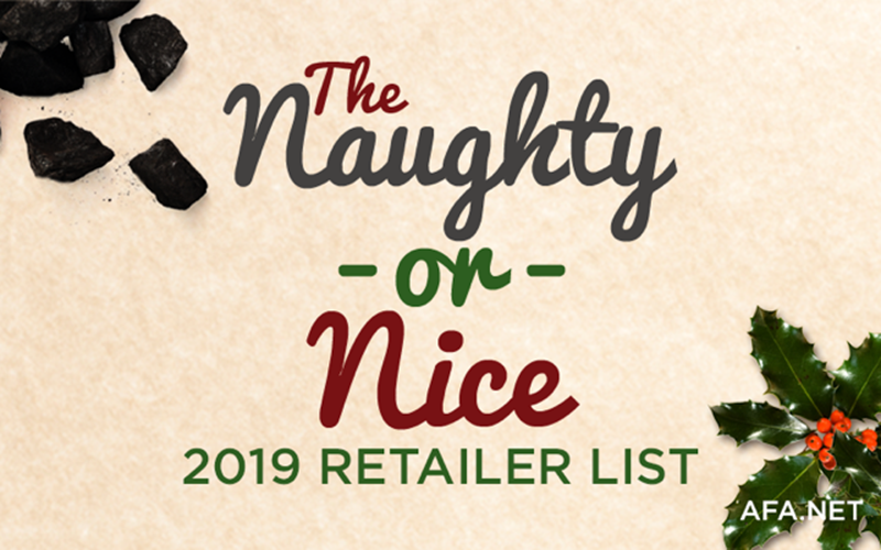 Here it is! AFA's 2019 'Naughty or Nice' Christmas Shopping List