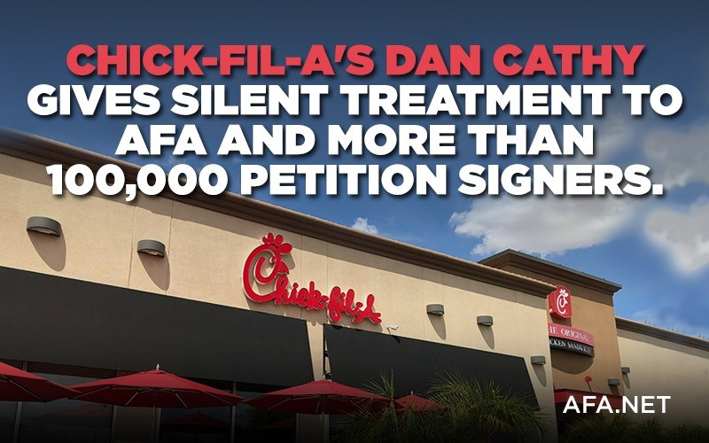Chick-fil-A ignores letter from AFA