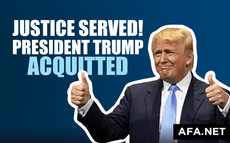 President Trump acquitted! Tell your senators how you feel.