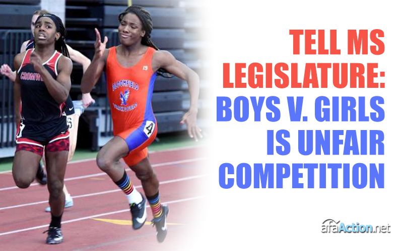 Urge MS Senators to keep boys out of girls' sports