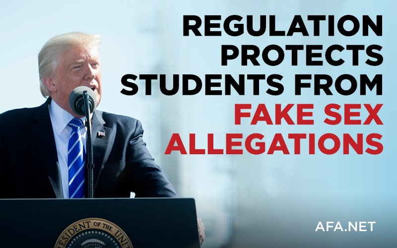 Trump Administration issues new regulation protecting students from false allegations of abuse