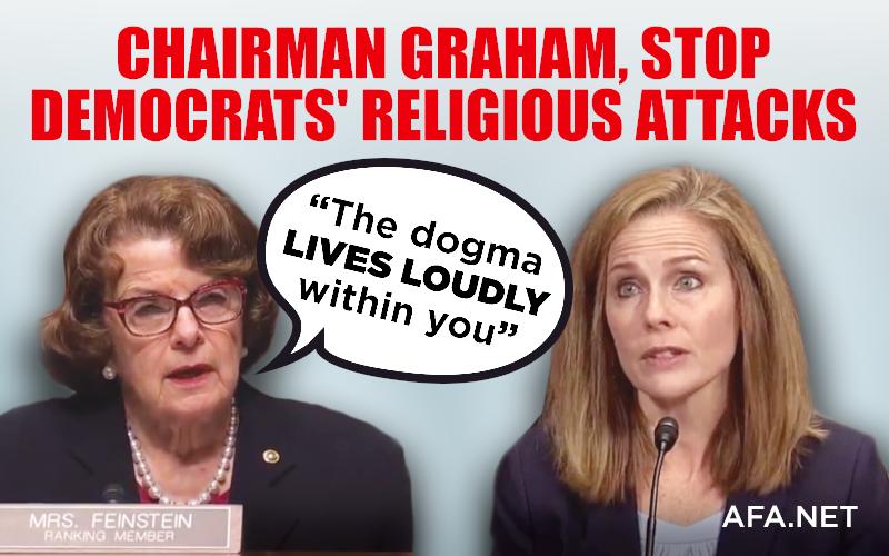 Tell Sen. Graham to halt Democrats' attacks against Judge Barrett's faith