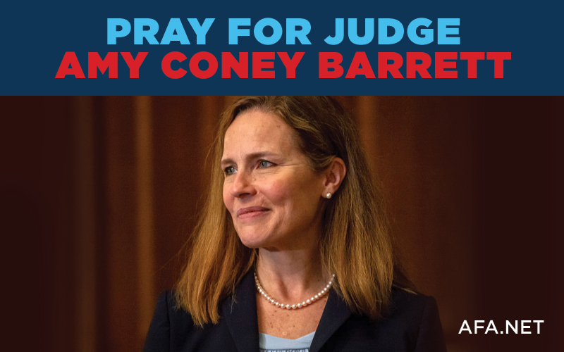 Pray for Judge Amy Coney Barrett