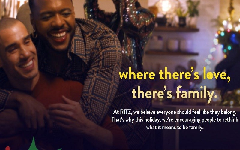 Men in lipstick: RITZ Crackers redefines family as two men