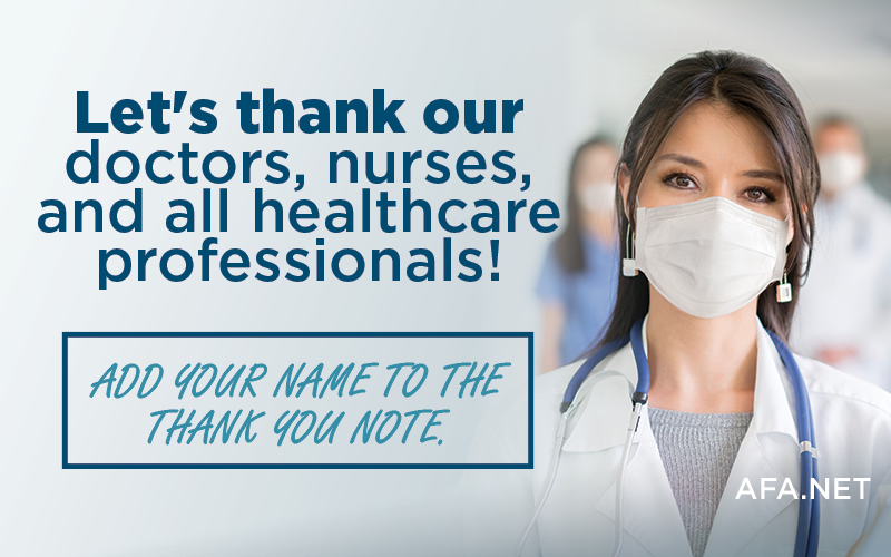 Add your name to say THANK YOU to Healthcare professionals