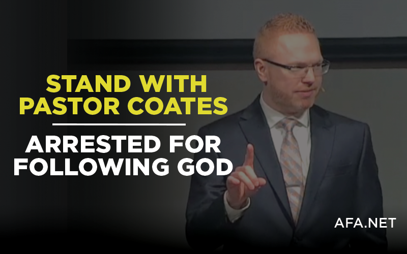 Stand with pastor arrested for following God, rather than man