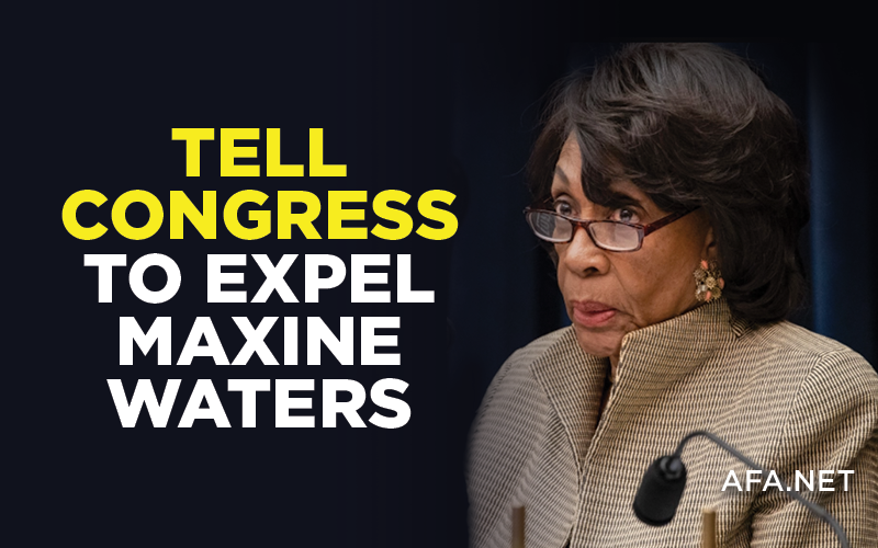 Tell Your Representative: Expel Maxine Waters!